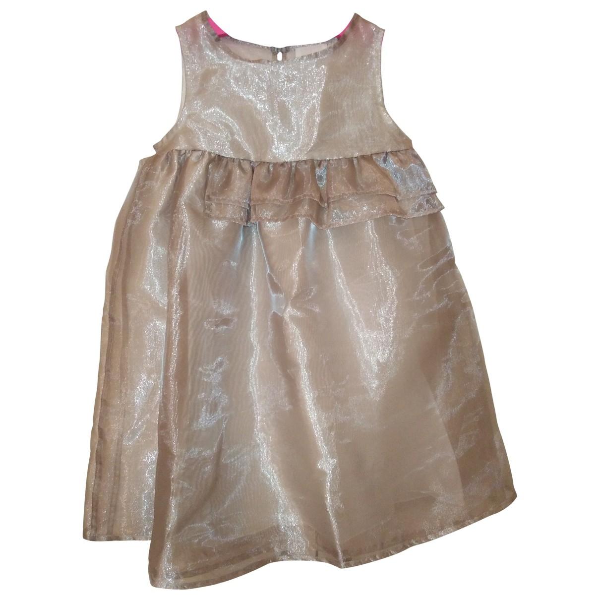 Douuod - Robe    pour enfant en coton - beige