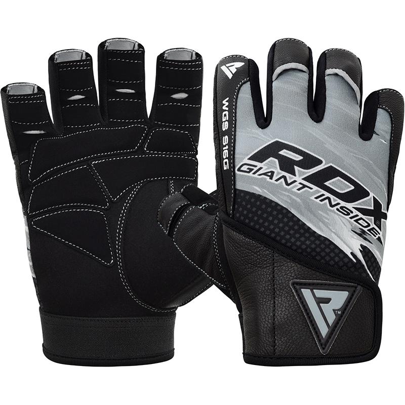 RDX S16 Gewichtheber Handschuhe S Grau