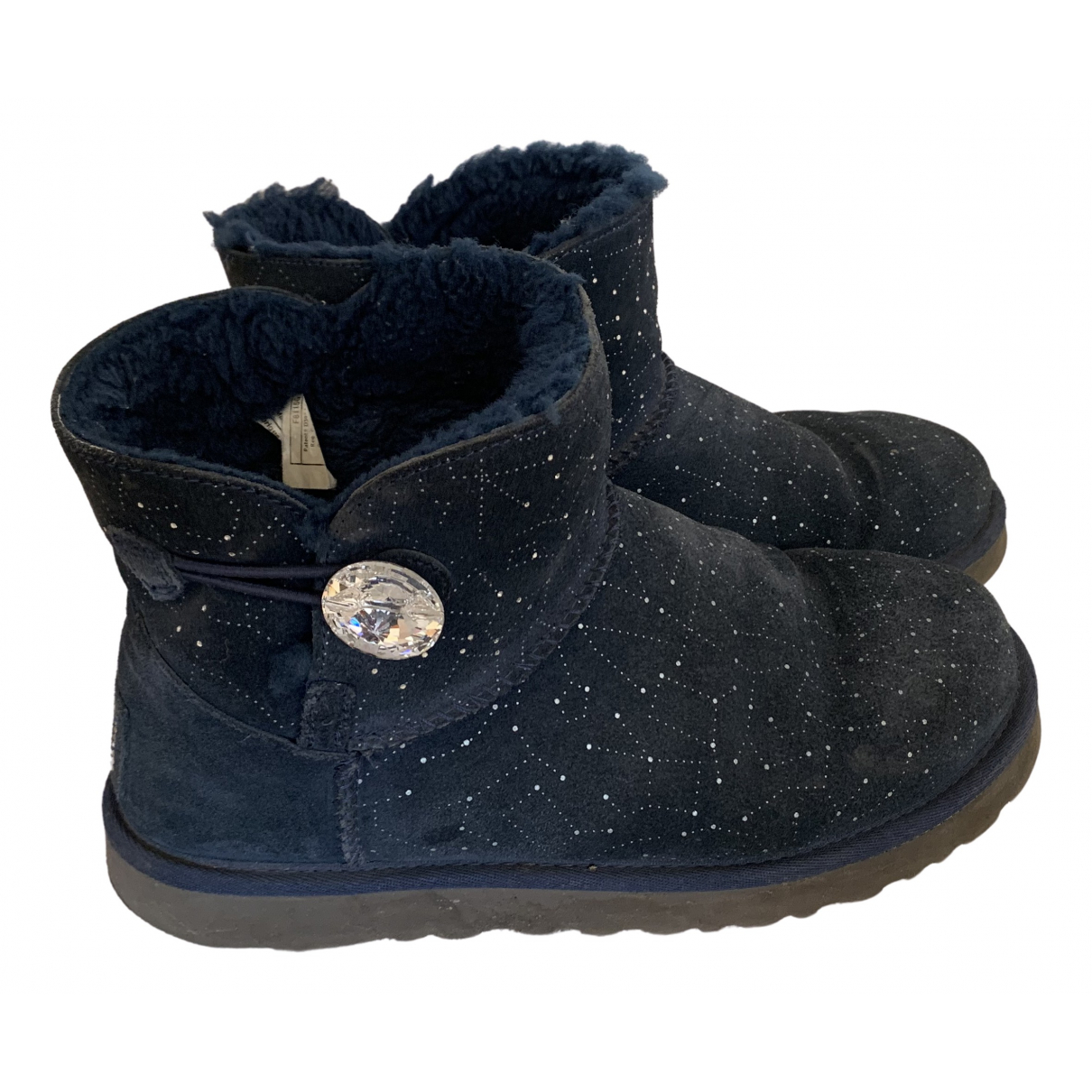 Ugg N Blue Leather Boots for Women 38 EU