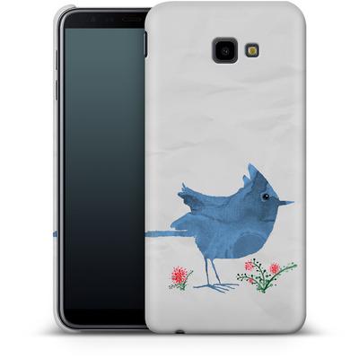 Samsung Galaxy J4 Plus Smartphone Huelle - Watercolour Bird White von caseable Designs