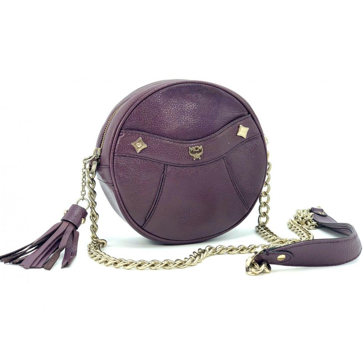 Mcm - Sac a main   pour femme en toile - violet