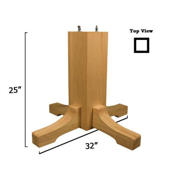 Red Oak Mission Table Pedestal Base Kit, Model 1172O