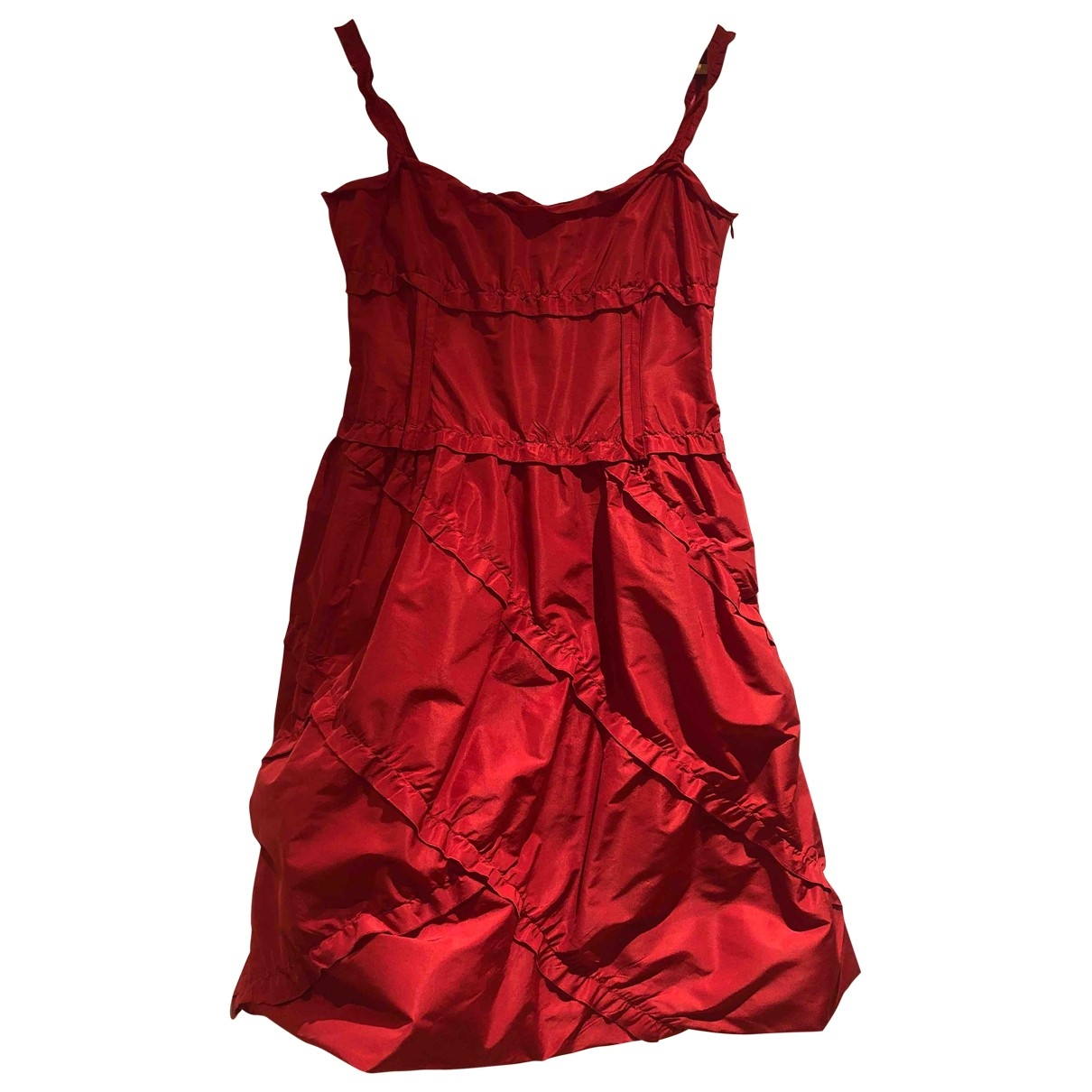 Moschino Cheap And Chic \N Kleid in  Rot Synthetik