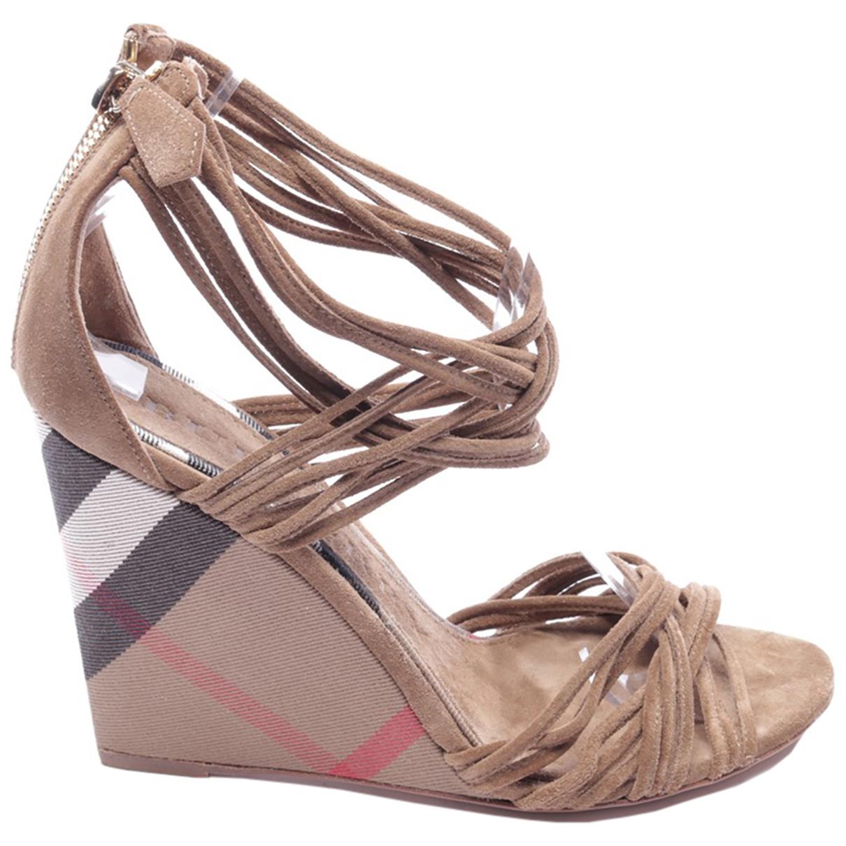 Burberry N Multicolour Leather Sandals for Women 39 EU