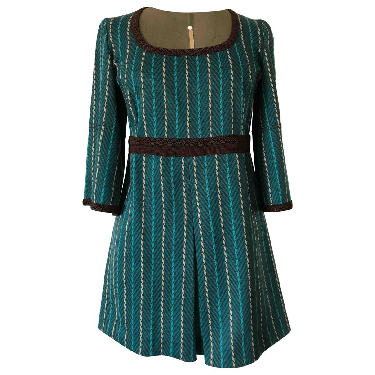 - Robe Hippie Chic pour femme en coton - elasthane - turquoise