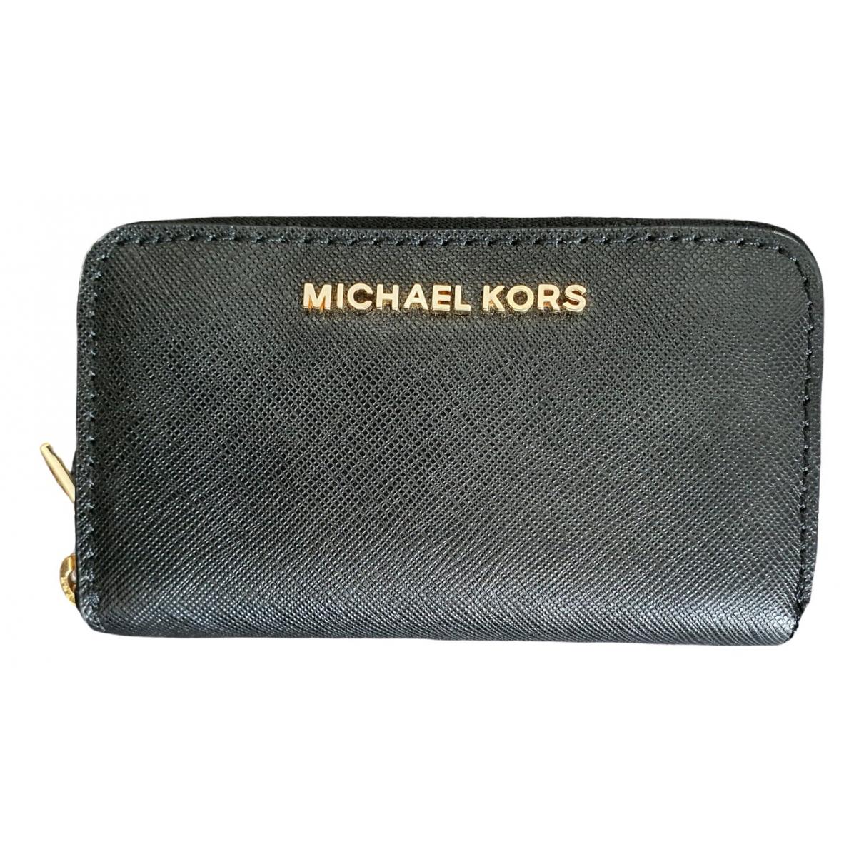 Michael Kors \N Kleinlederwaren in  Schwarz Leder