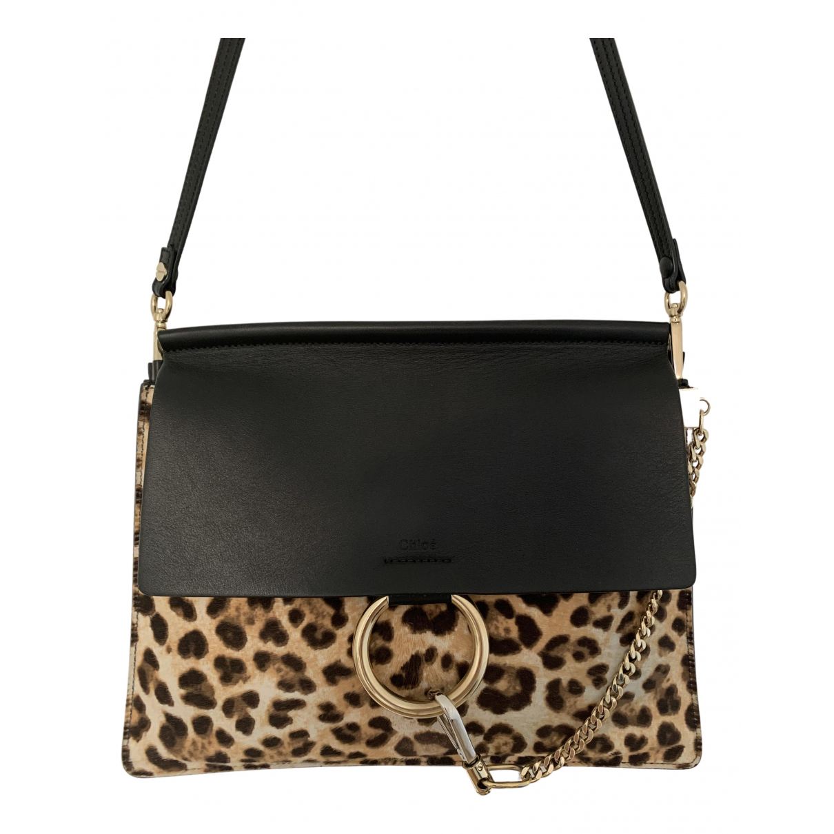 Chloé Faye Black Pony-style calfskin handbag for Women \N
