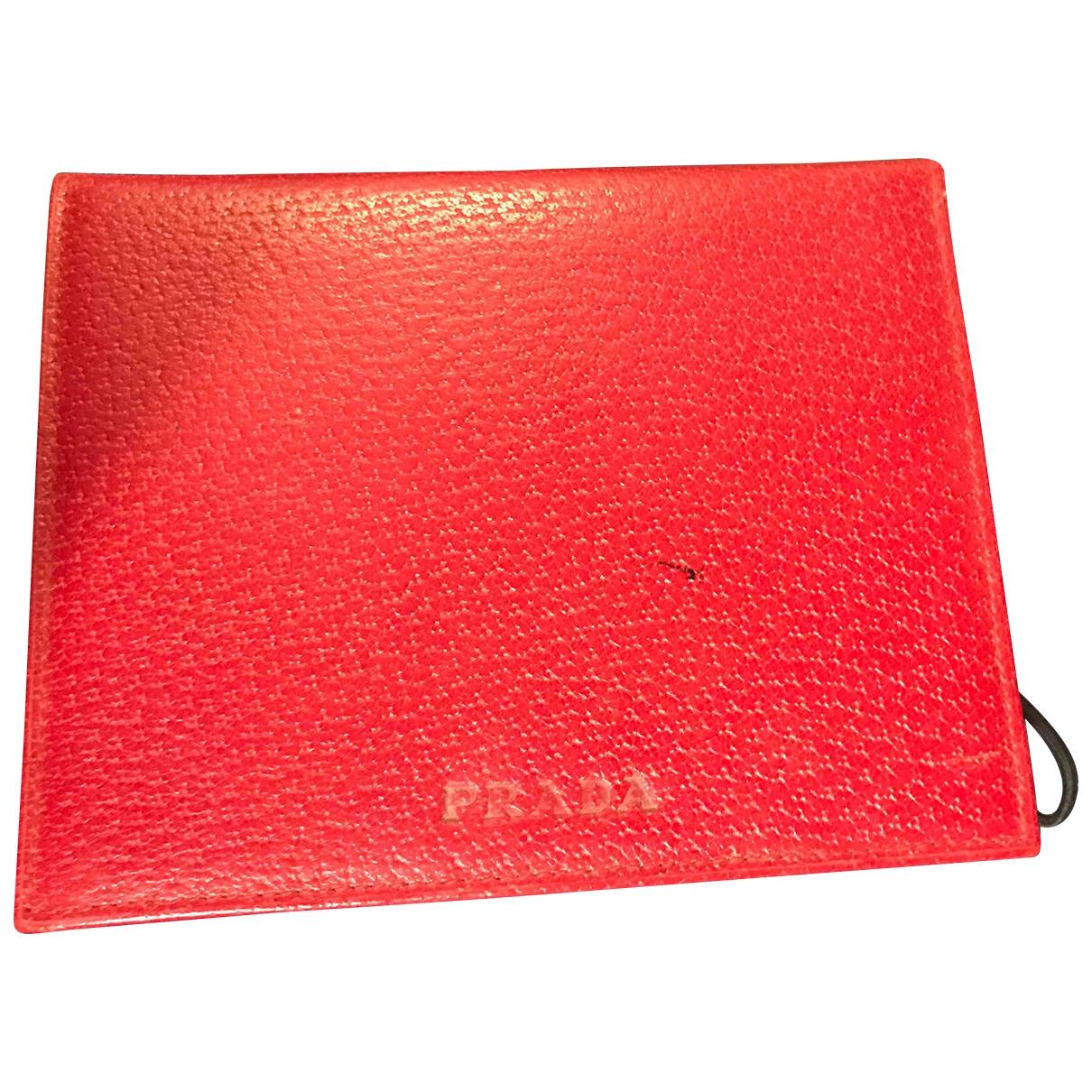 Prada - Objets & Deco   pour lifestyle en cuir - rouge