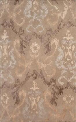 44406F 8 x 11 ft. Kara Area Rug  in Brown and