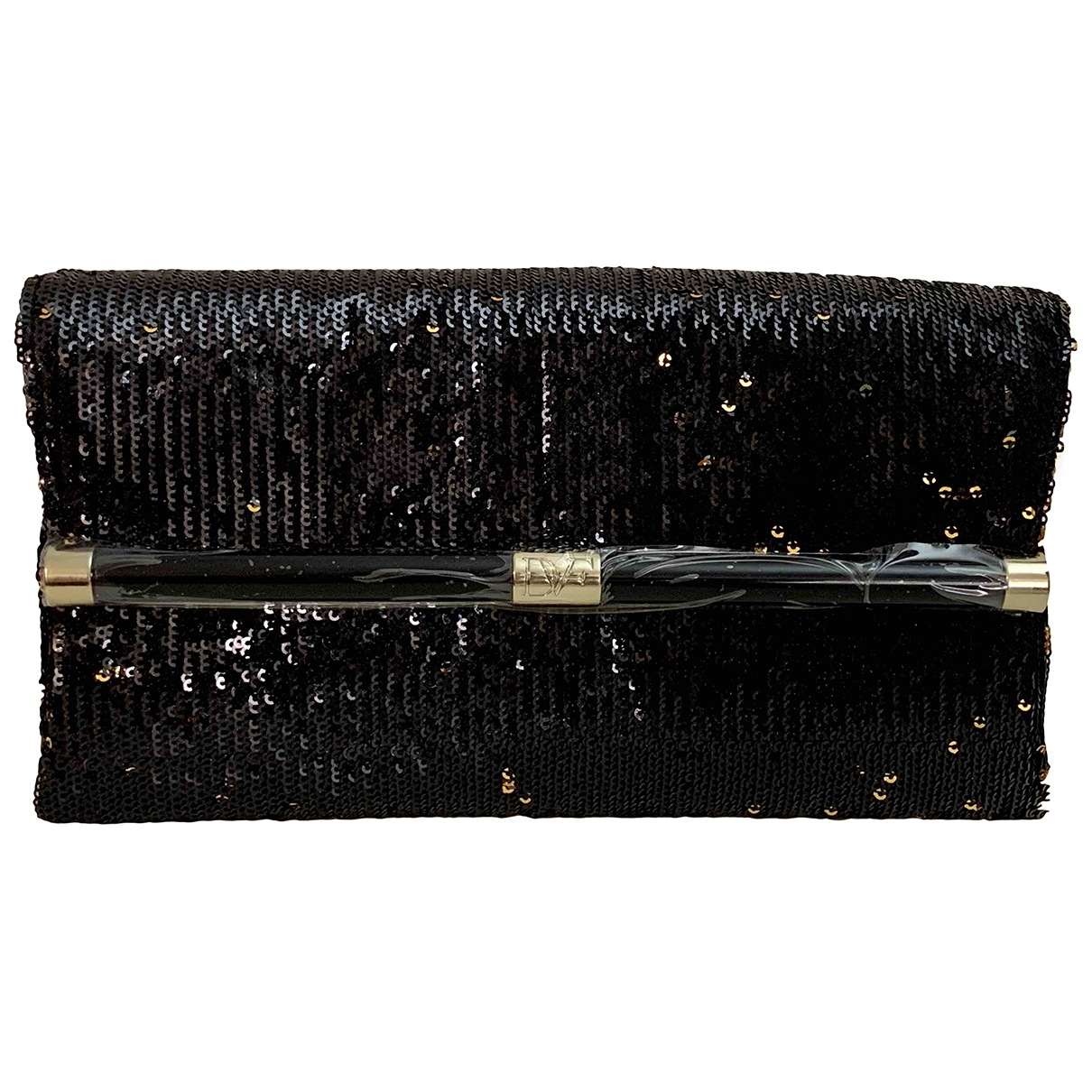 Diane Von Furstenberg \N Black Leather Clutch bag for Women \N