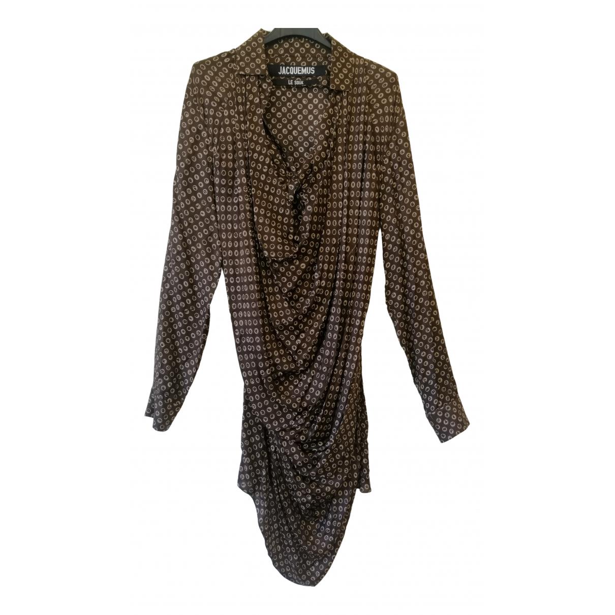 Jacquemus Le Souk Brown Silk dress for Women S International