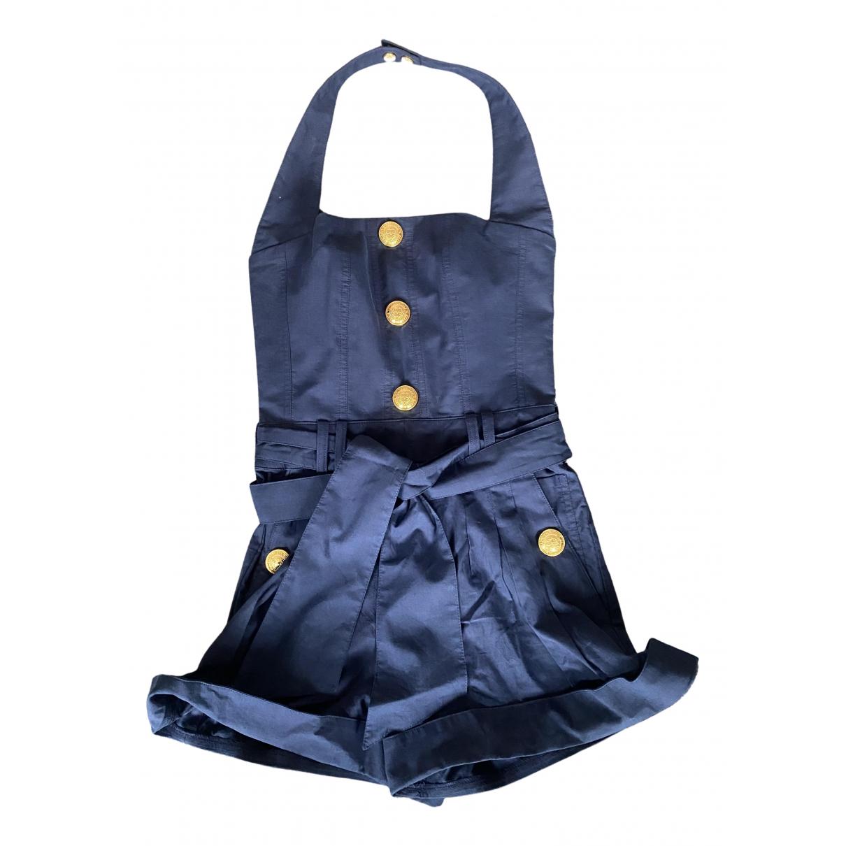Balmain - Combinaison   pour femme en coton - bleu
