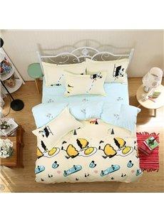 Ultra Soft Snug and Comfortable Aloe Vera Cotton 4-Pieces Kids Bedding Sets