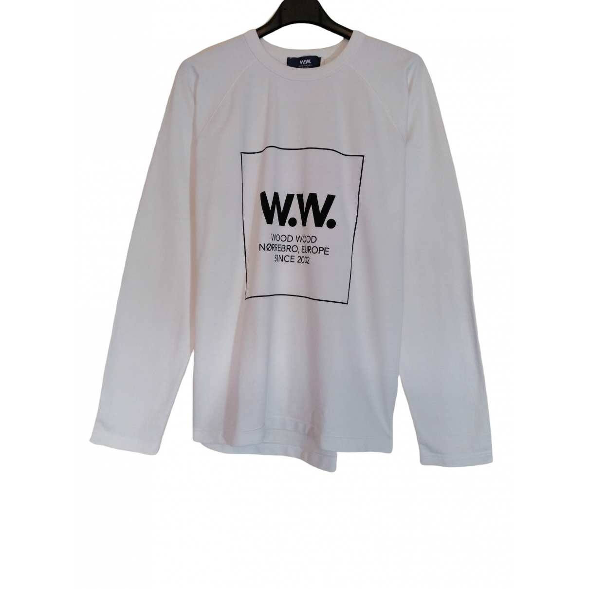 Wood Wood \N Pullover.Westen.Sweatshirts  in  Weiss Baumwolle