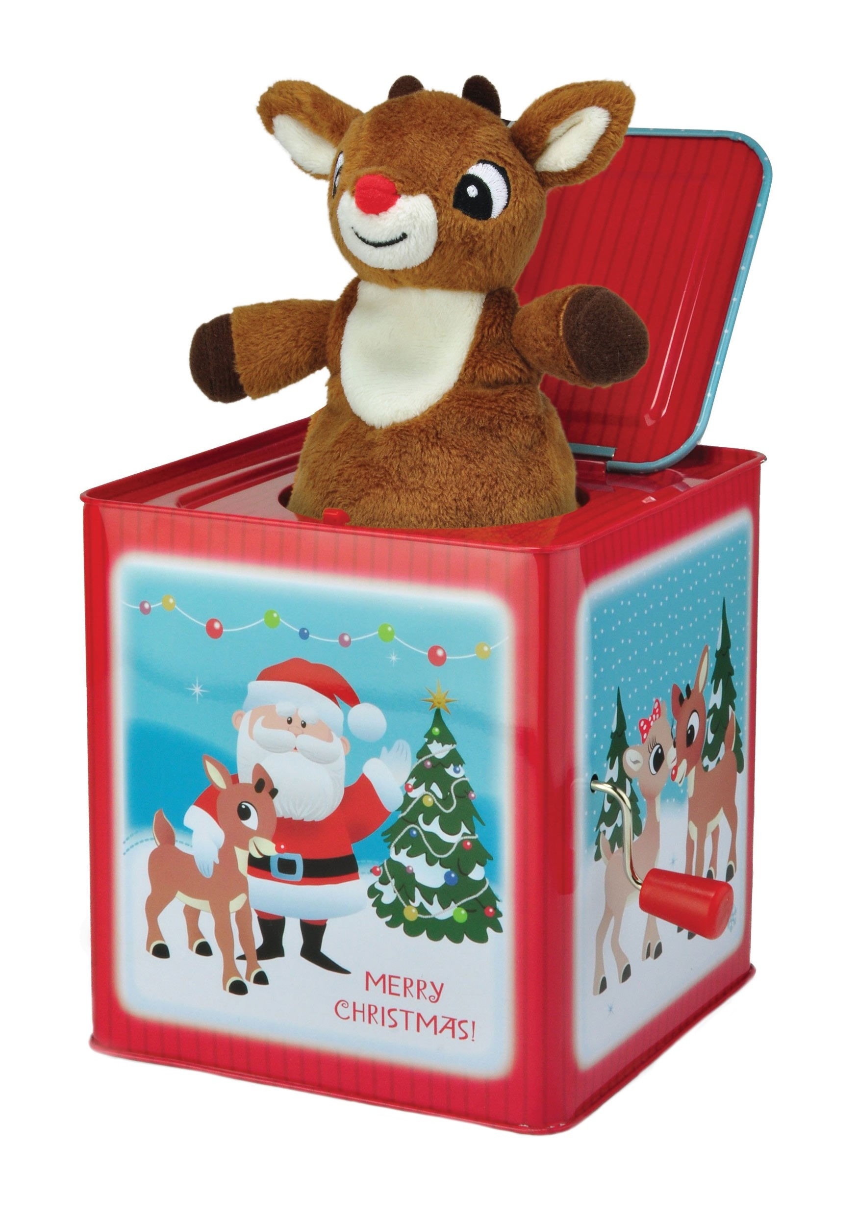 Rudolph the Red Nosed Reindeer Christmas Jack-in-the-Box