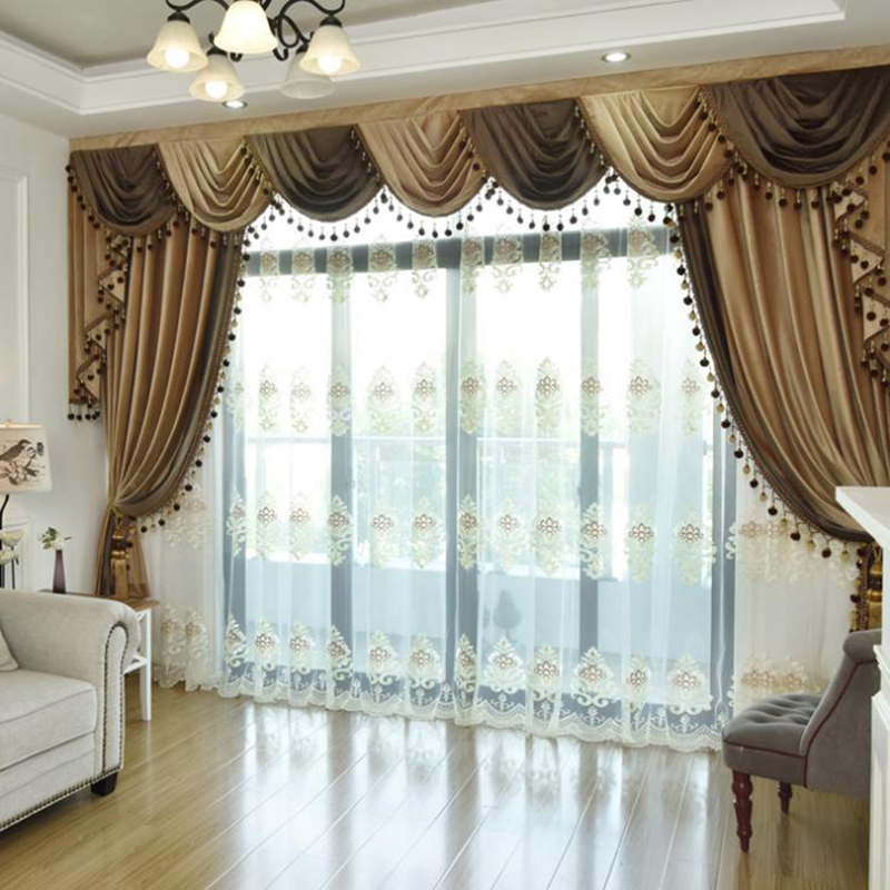 Ball Pendant Decoration Flocking Suede Bedroom Curtains Drapes