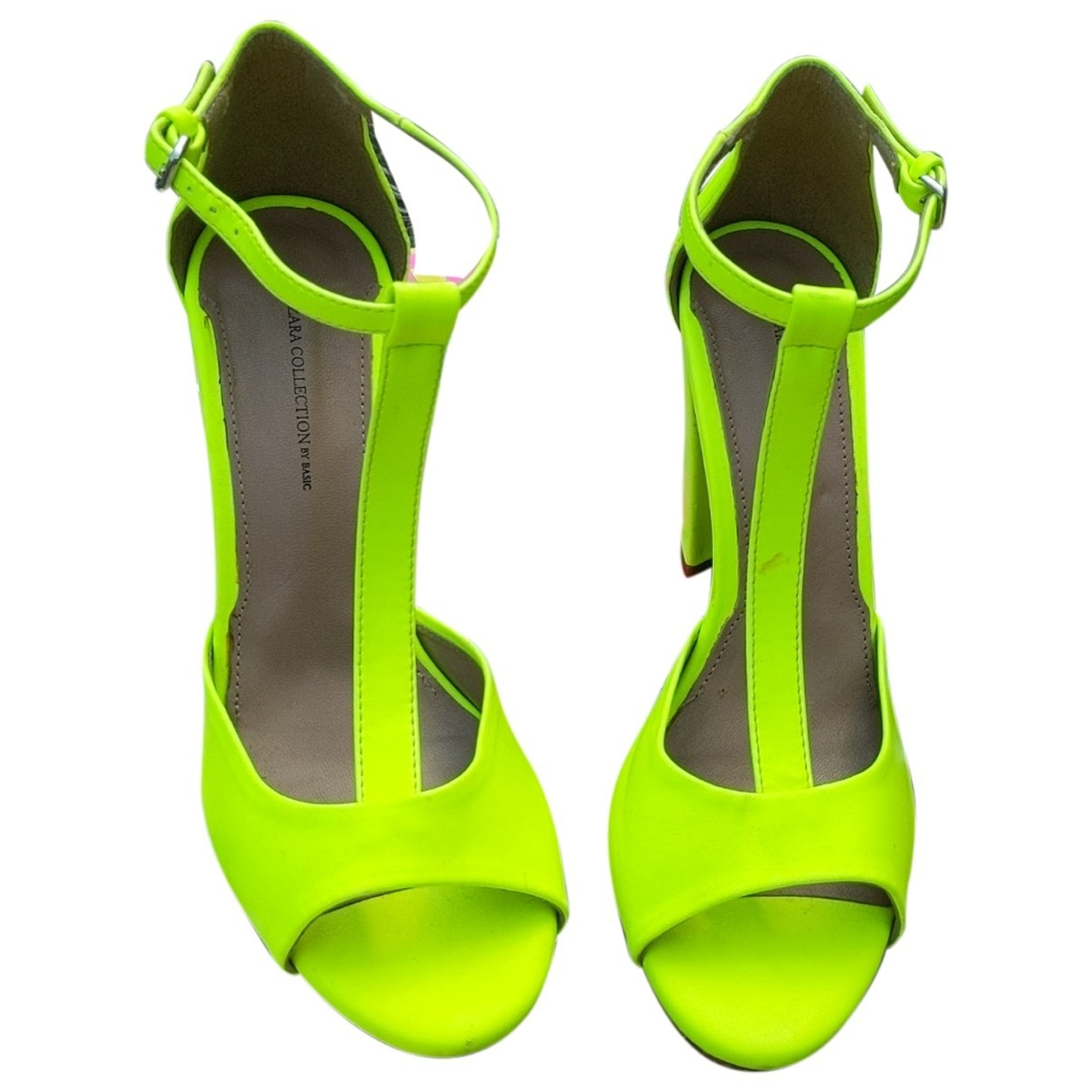 Zara \N Leather Heels for Women 38 EU