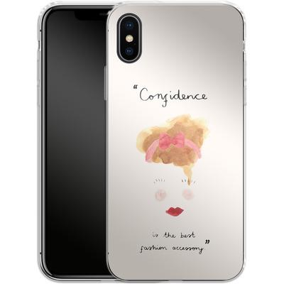 Apple iPhone X Silikon Handyhuelle - Confidence von caseable Designs