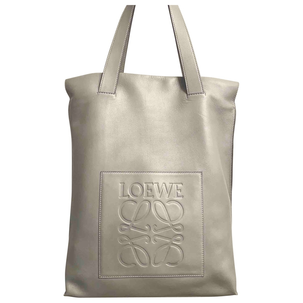 Loewe \N Grey Leather handbag for Women \N