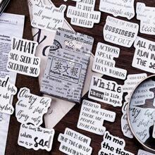 46 Blaetter Zufaelliger Aufkleber mit Buchstaben Muster