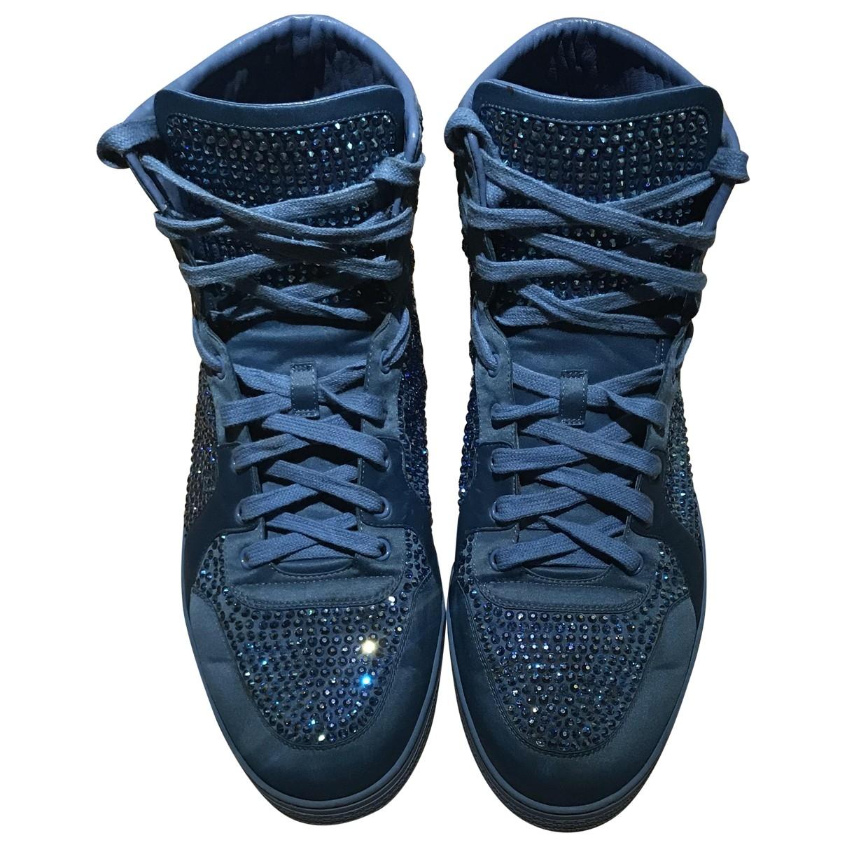 Gucci - Baskets   pour homme en a paillettes - bleu