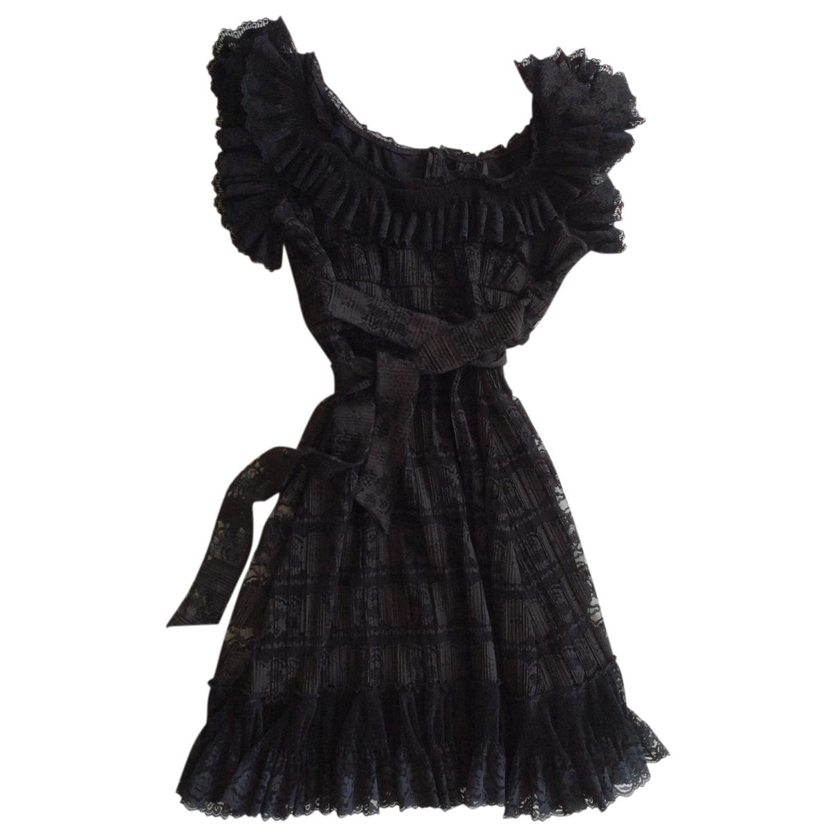 Anna Sui - Robe   pour femme en dentelle - noir