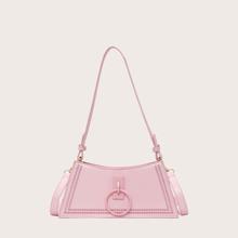 Stitch Trim Baguette Bag