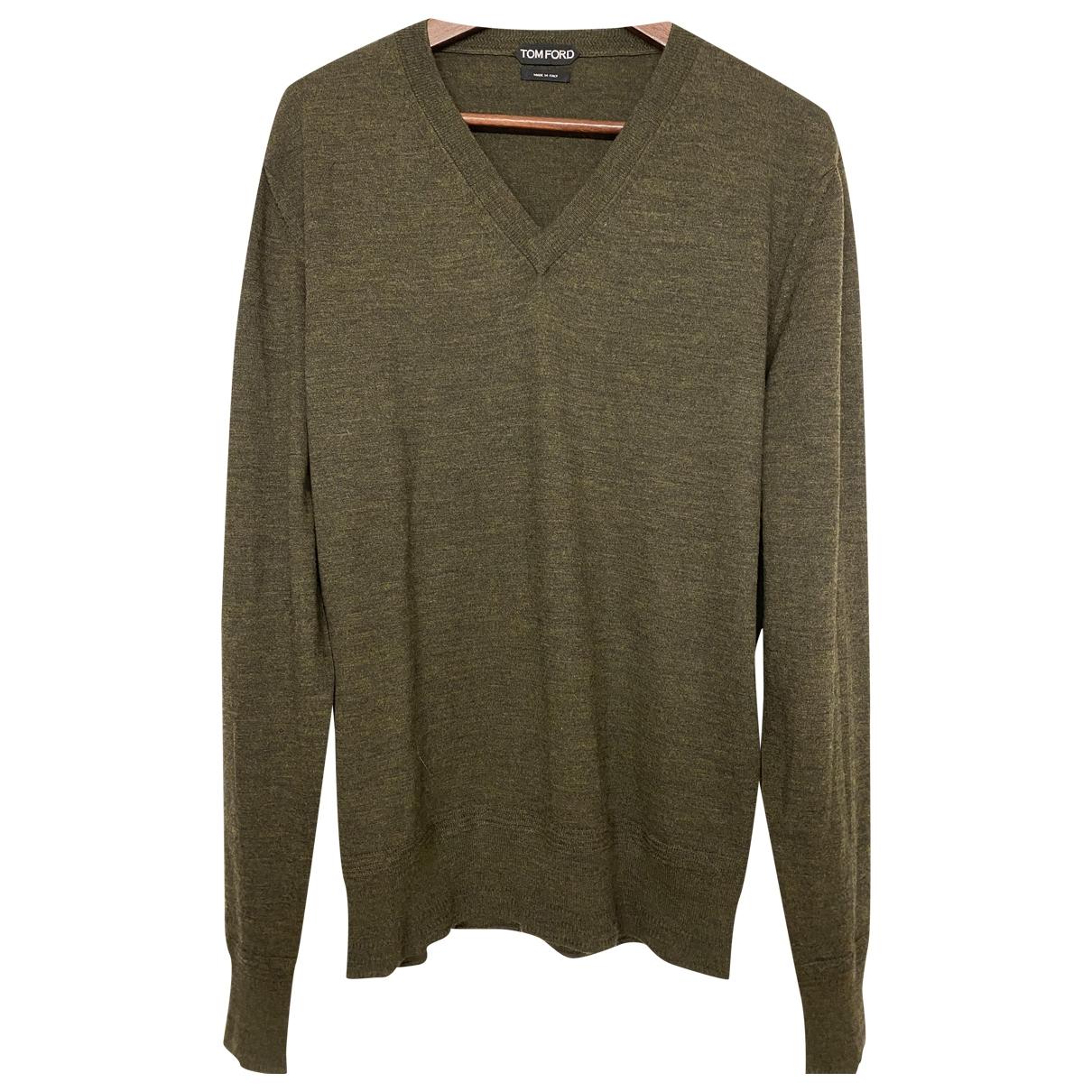 Tom Ford \N Pullover.Westen.Sweatshirts  in  Khaki Wolle