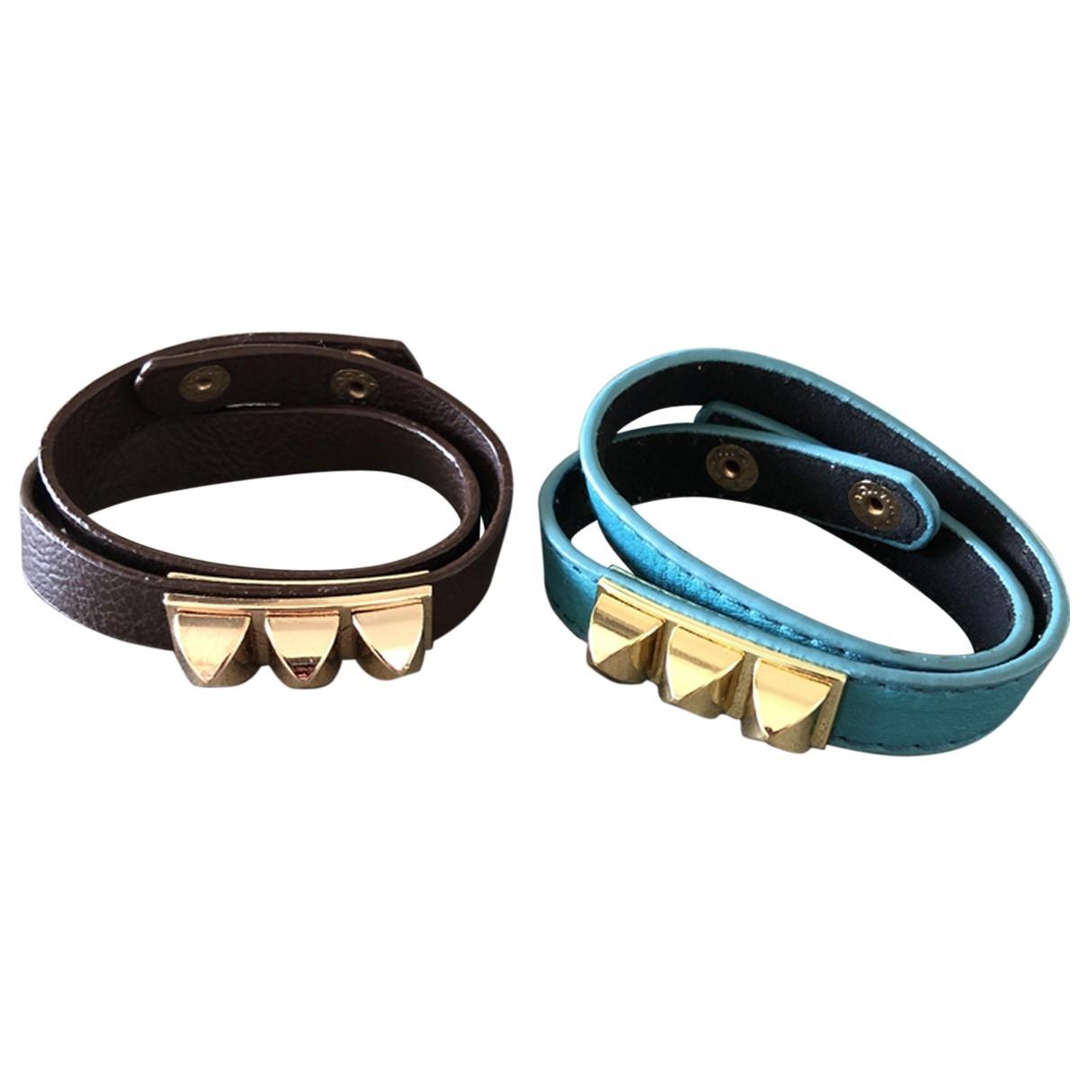 - Bracelet   pour femme en cuir - multicolore