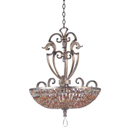 2566AF Chesapeake 6 Light 24 5 in. Pendant With Beaded Bowl