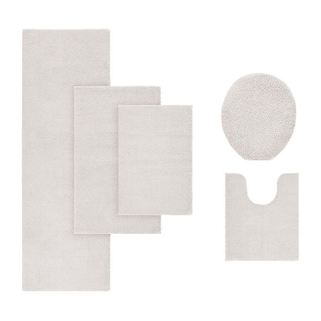 Madison Park Signature Marshmallow Memory Bath Rug Collection, One Size , Beige