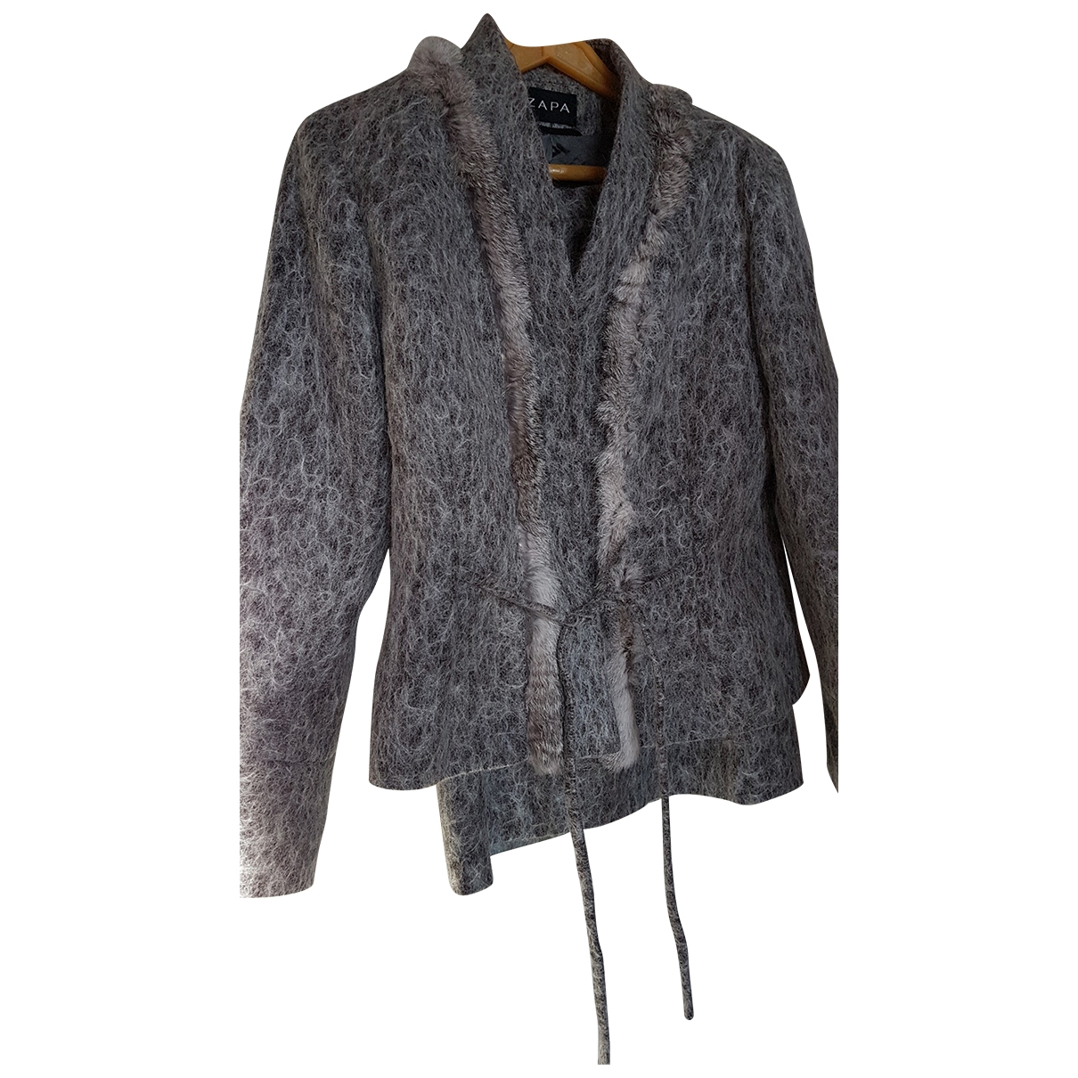 Zapa - Veste   pour femme en laine - gris