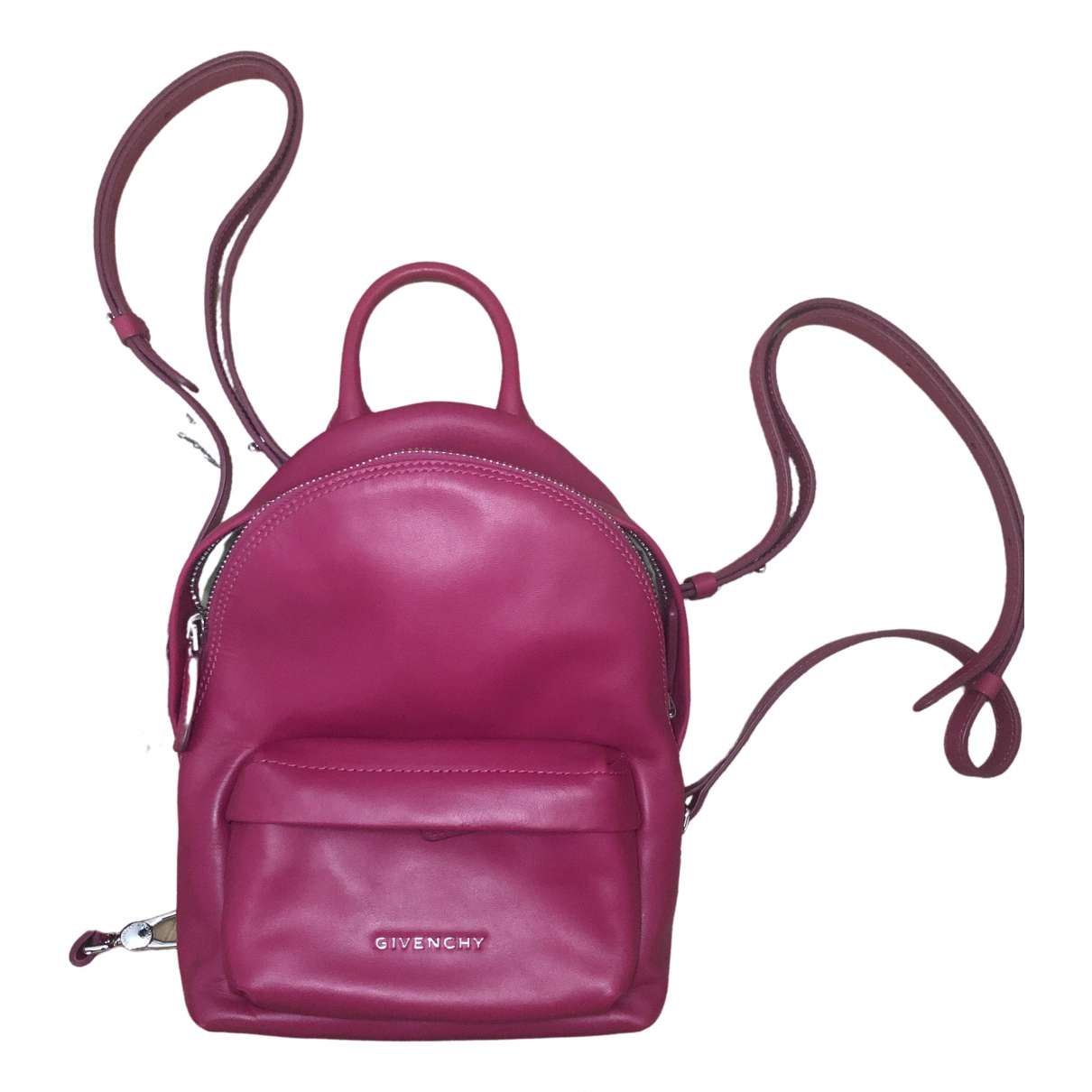 Givenchy \N Pink Leather backpack for Women \N