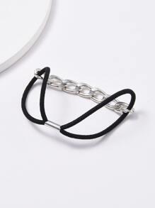 2pcs Chain Decor Hair Tie