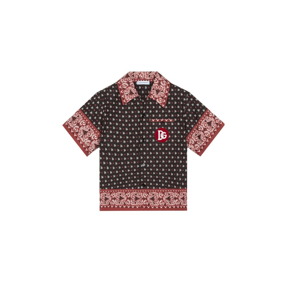 Dolce & Gabbana Bandana Print Shirt Colour: BLACK, Size: 8 YEARS