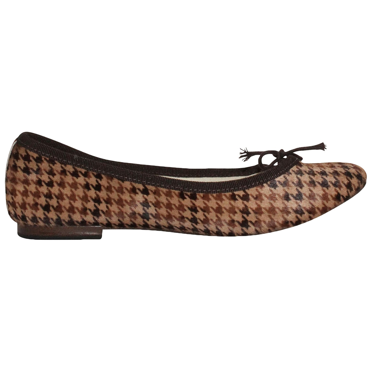 Repetto \N Brown Pony-style calfskin Ballet flats for Women 36 EU
