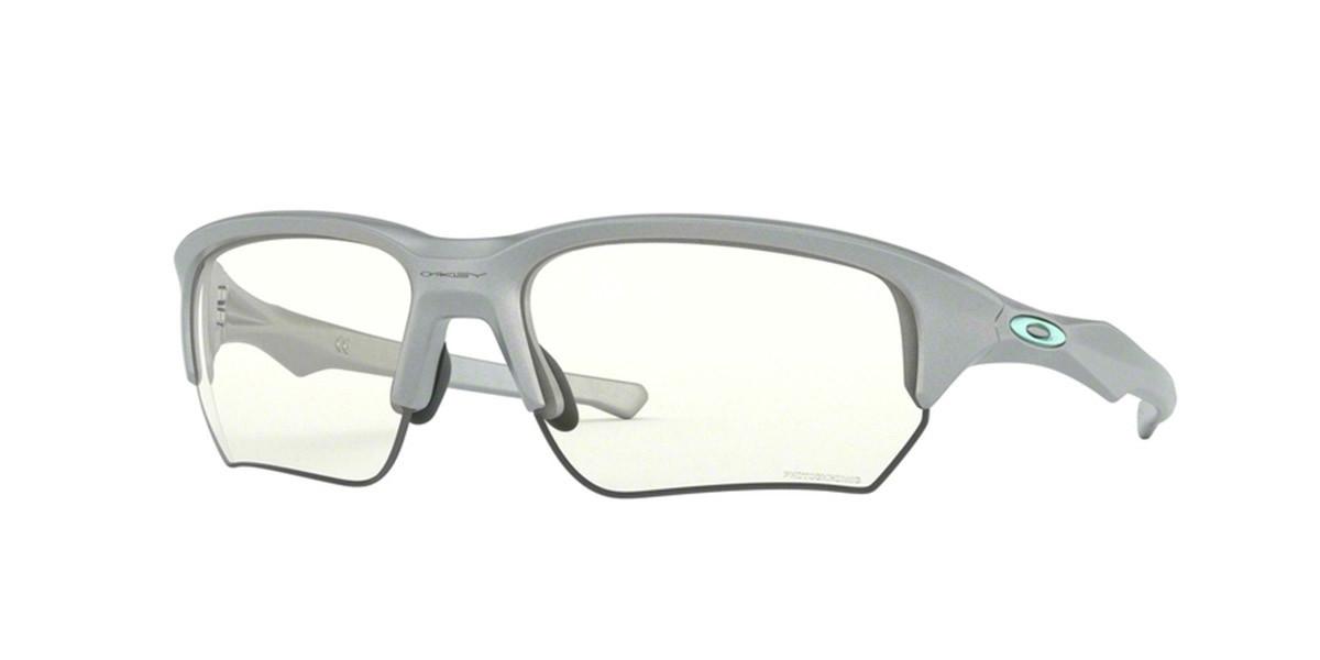 Oakley OO9372 FLAK BETA Asian Fit 937210 Men's Sunglasses Silver Size 65