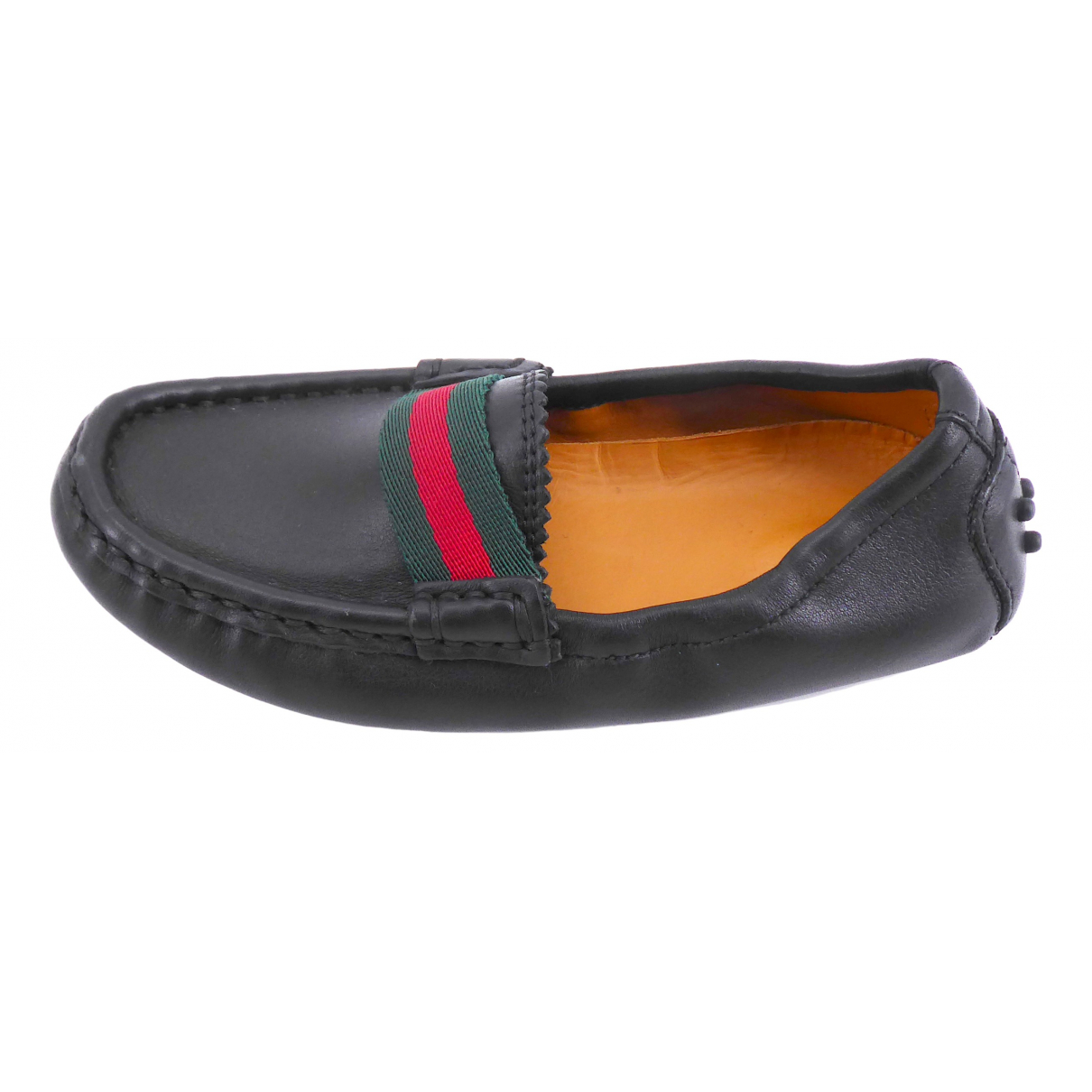 Gucci \N Black Leather Flats for Kids 26 FR