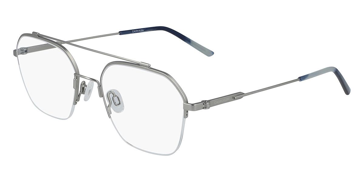 CK 19143F Asian Fit 045 Men's Glasses Silver Size 53 - Free Lenses - HSA/FSA Insurance - Blue Light Block Available