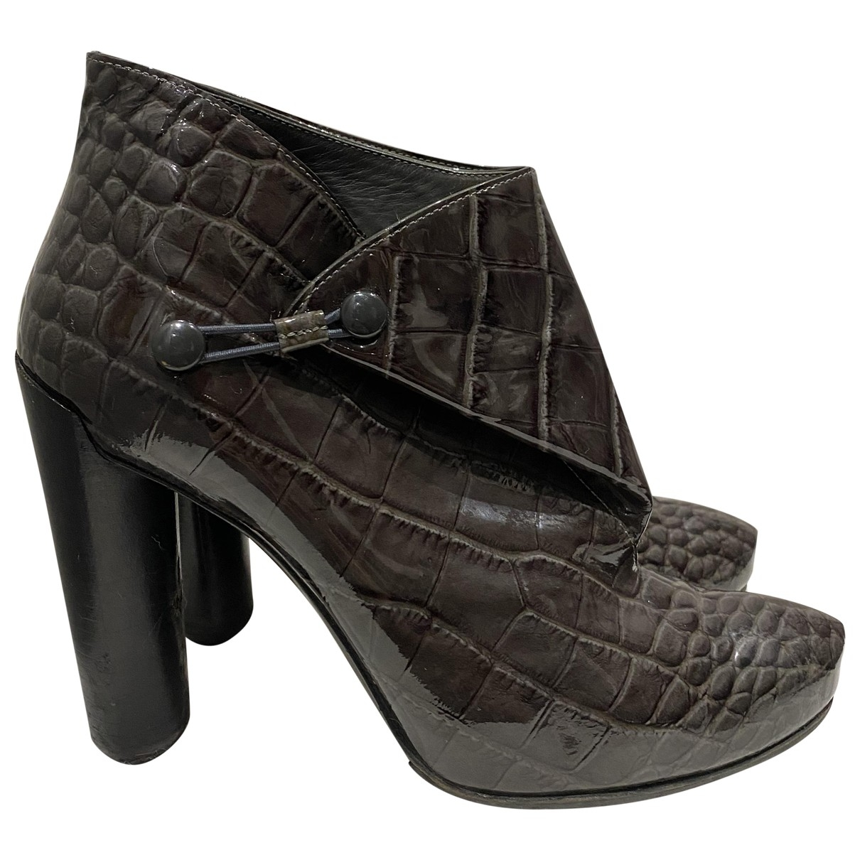 Louis Vuitton - Boots   pour femme en cuir