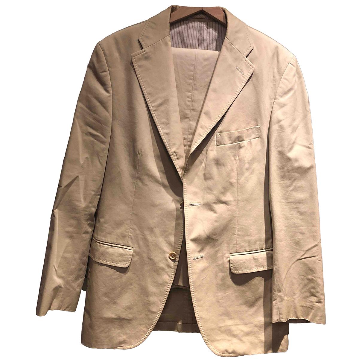 Massimo Dutti \N Beige Cotton Suits for Men 50 IT