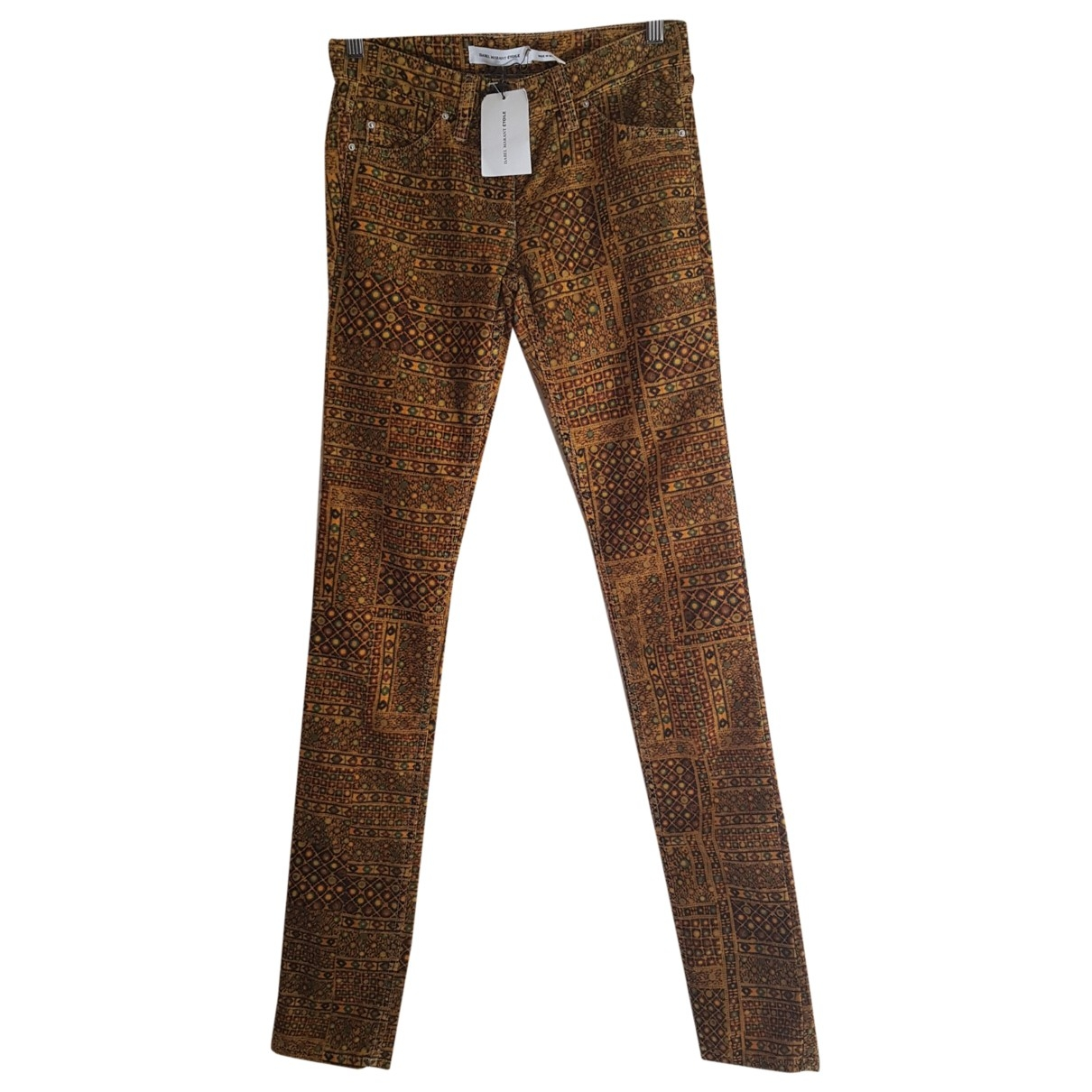 Isabel Marant Etoile \N Multicolour Velvet Trousers for Women 34 FR