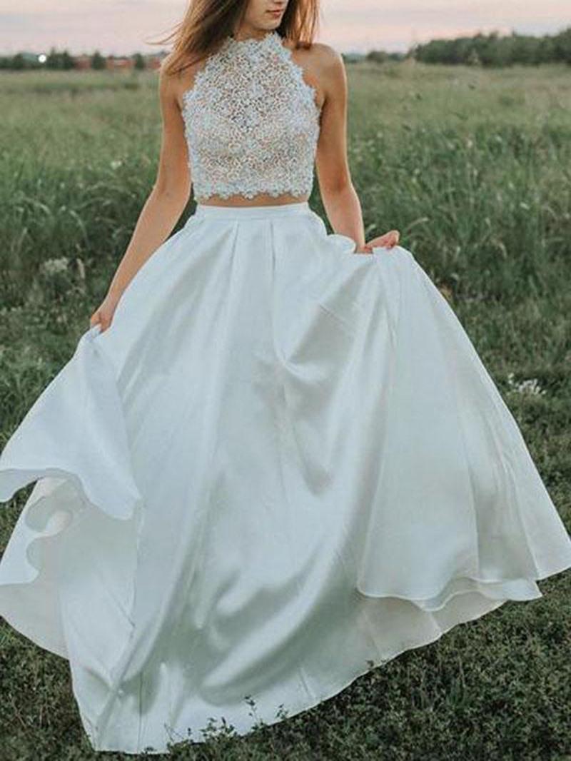 Ericdress Pockets Lace Beach Wedding Dress