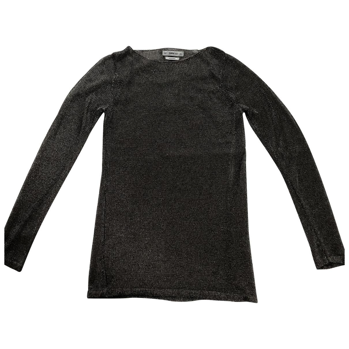 Zara - Top   pour femme - metallise