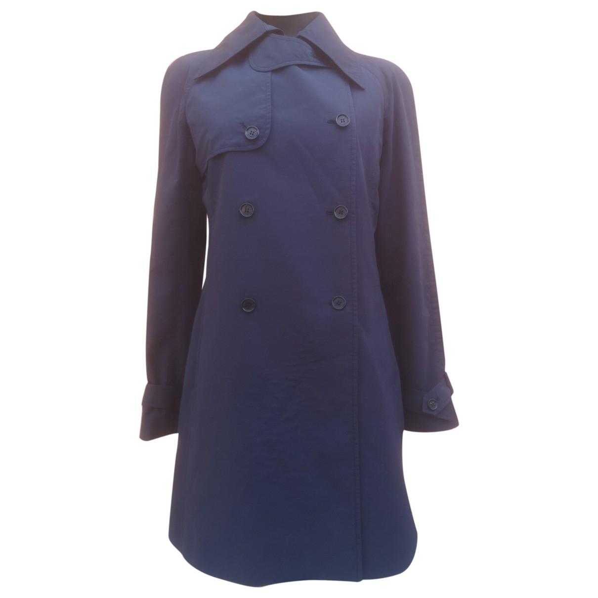 Dolce & Gabbana - Trench   pour femme en coton - bleu