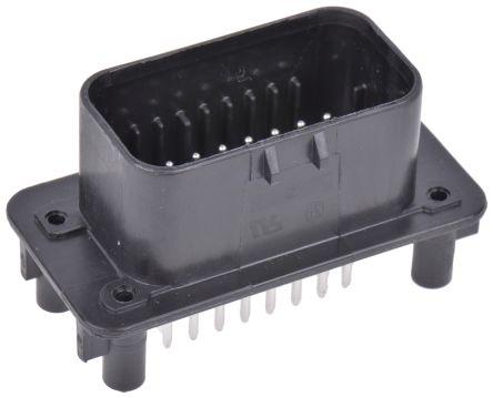 TE Connectivity , AMPSEAL Automotive Connector Plug 3 Row 23 Way, Solder Termination, Black