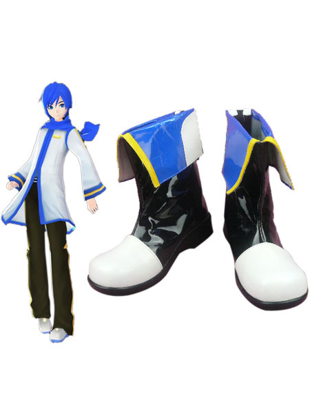 Milanoo Vocaloid Kaito Cosplay Shoes Imitated Leather Halloween