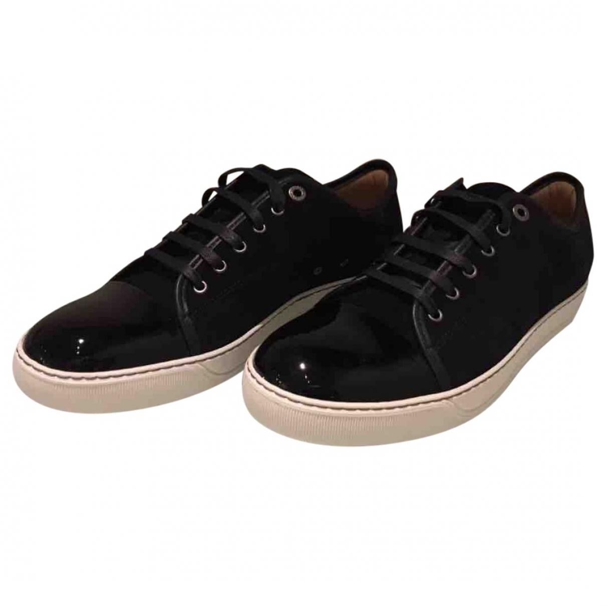 Lanvin \N Sneakers in  Marine Veloursleder
