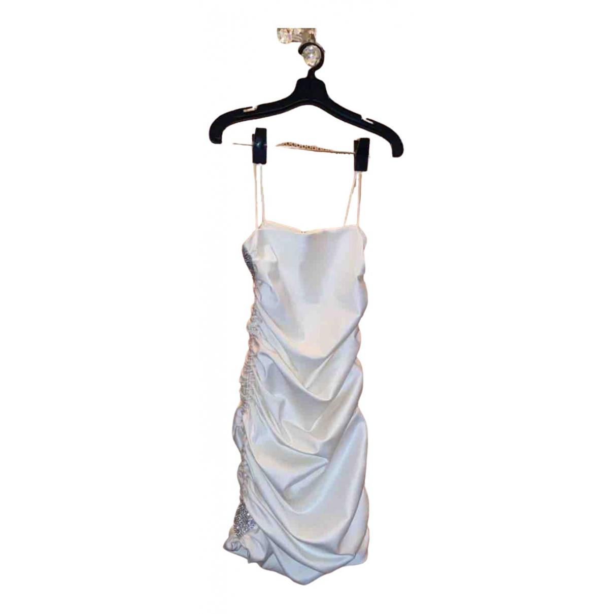 Mach & Mach \N Kleid in  Weiss Seide