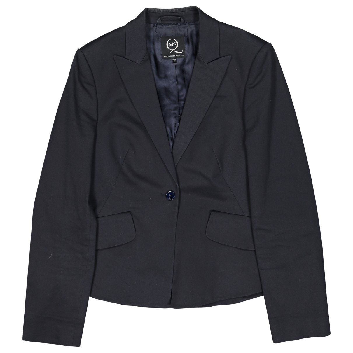 Alexander Mcqueen \N Navy Cotton jacket for Women 44 IT